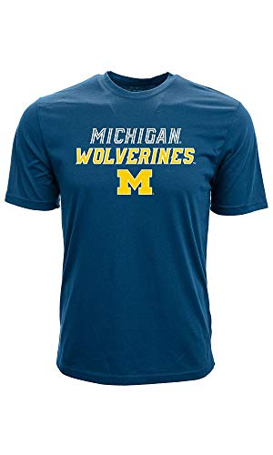 Levelwear NCAA College Michigan Wolverines Slant Route Tee T-Shirt Football Basketball (XXL)