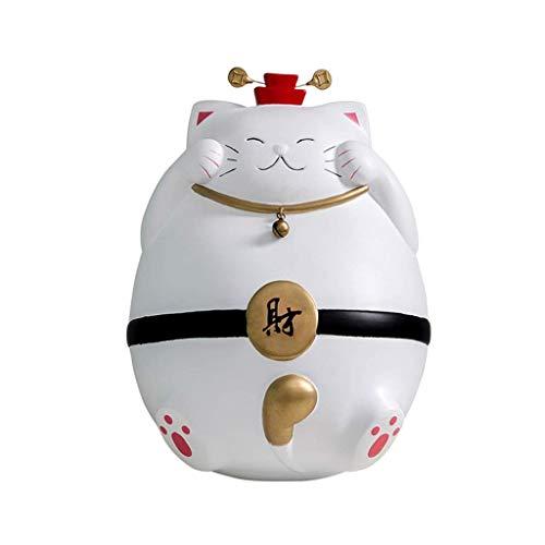 Guardia Cathy Surfy Gat Piggy Bank, Que se Puede Colocar en el Dormitorio o en la Tienda Lucky Piggy Bank, Creativo Feng Shui Bell Piggy Bank Creativity Bank (Tamaño: Grande) TINGG (Size : Lar
