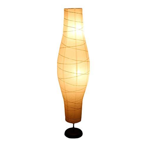LXHLDD Lámpara De Pie De Papel De Arroz con Personalidad Creativa, Lámparas De Pie De Estilo Japonés para Dormitorios De 53,9 Pulgadas De Alto, con Pantalla De Papel Blanco