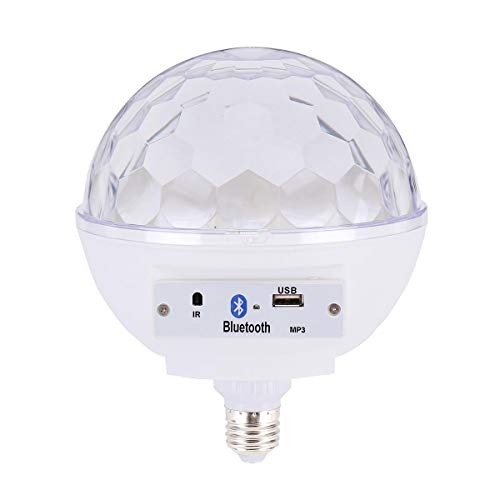 Yi-xir Fashion Design AC100-240V E27 Control de Voz Altavoz de música Colorido LED Bulbo Bluetooth para la Fiesta Wireless Portable Travel