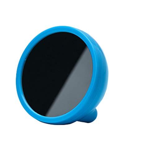 YZERTLH Reloj de Escritorio Analógico Inicio LED Espejo Reloj Despertador pequeño Lindo Retardo Luminoso Despertador Reloj Despertador Mini Espejo Reloj de Escritorio Silencioso (Color : Blue)