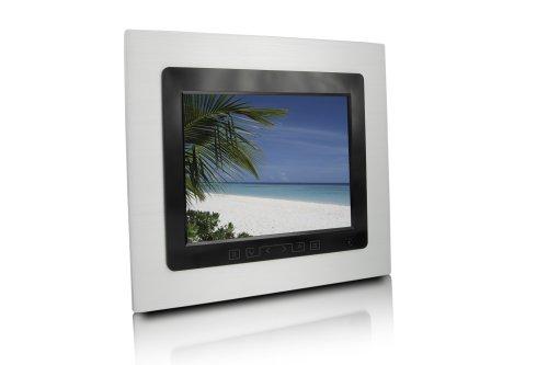 Praktica DF 1.8 digitale fotolijst (8,2'' display, 128 MB intern geheugen) aluminium