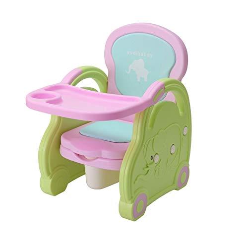 Portatile e Bello WC Riutilizzabile con Tavolo da Pranzo banale del Bambino Multi-Funzione Creativa Pieghevole Facile da Pulire Bambini Domestici Potty igienici Facile da Pulire (Color : Pink)