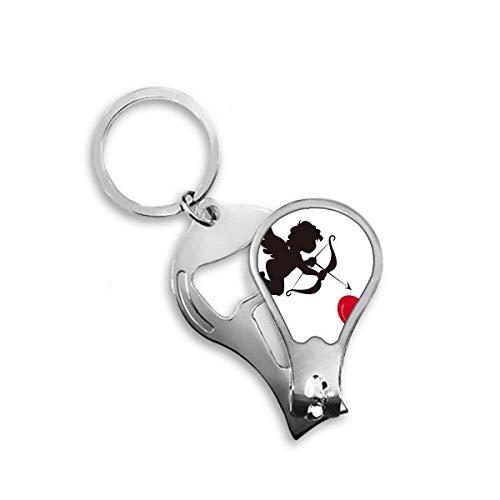 DIYthinker Cupidon Ange coeur rouge Motif Toenail Clipper Cutter