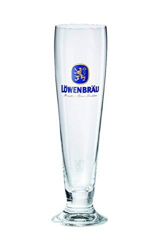 Löwenbräu Premium Pils Pokal 0,3 Liter [12er Set] Original Löwenbräu Bierglas für Gastronomie & Sammler - 30cl Bier Glas - Spülmaschinenfest - NEU