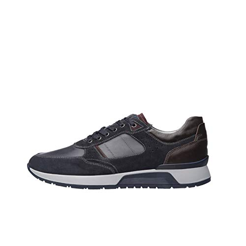 Nero Giardini A901180U Sneakers Uomo in Pelle E Camoscio - Blu 41 EU