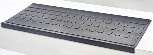 5 Stck Stufenmatte Set Melina schwarz Jet-Line Treppenstufen außen Garten antirutschmatte treppenmatten Stufenmatten Rutschhemmend 75x25 cm