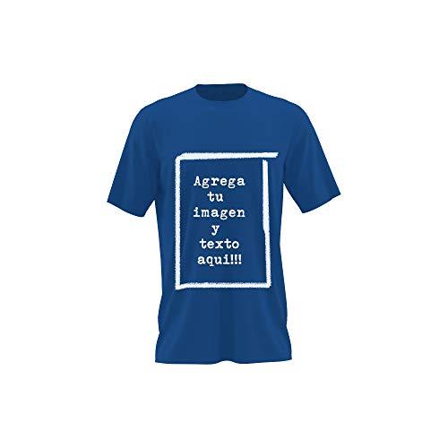 Detalles Creativos Camisetas Personalizables - T-Shirt Personalizadas .Tu Foto ó diseño en una Camiseta (Royal Blue, L)