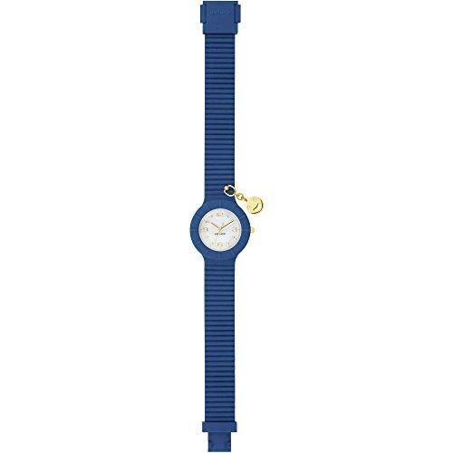 Armbanduhr HIP HOP Frau Piercing quadrante Weiss e uhrarmband in silikon, Glam blau Smiley, Werk TIME JUST - 3H QUARZUHR