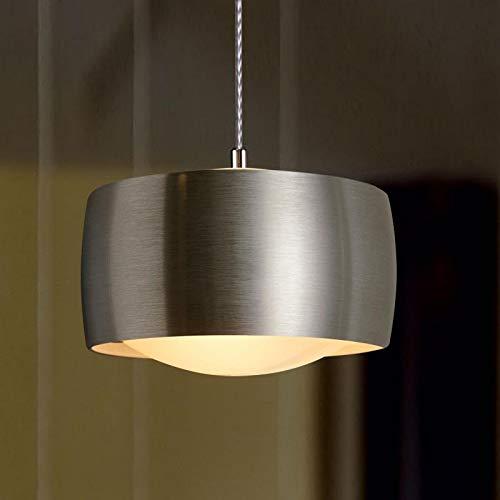 Oligo Grace Pendelleuchte 1-flammig LED, mit unsichtbarer Höhenverstellung, Aluminium gebürstet