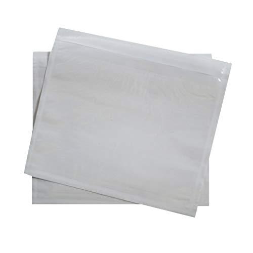 1000 transparente DIN C7 Lieferscheintaschen 121x112 mm selbstklebende Begleitpapiertaschen Dokumententaschen Rechnungstaschen für Lieferscheine Begleitpapiere Dokumente Rechnungen