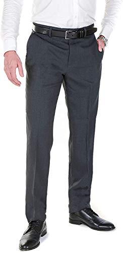 Hirschthal Herren Anzughose mit Bügelfalte, Grau, Gr. 52 - Slim Fit