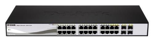 D-Link DGS-1210-24P - Switch PoE 24 Puertos Gigabit y 4 Puertos SFP Combo (24 x PoE máx. 30 W por Puerto hasta un Total 193...
