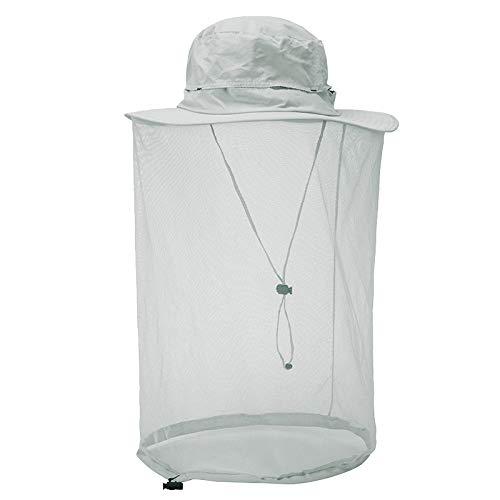 Xme Sombrero Anti-Mosquitos de Malla al Aire Libre, Sombrero de Miel de Secado rápido a la Sombra del Sol, Sombrero de Sol de montaña para Montar a Caballo