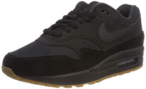 Nike Herren Air Max 1 Laufschuhe,Schwarz (Black/Gum Med Brown 007)7, 42 EU