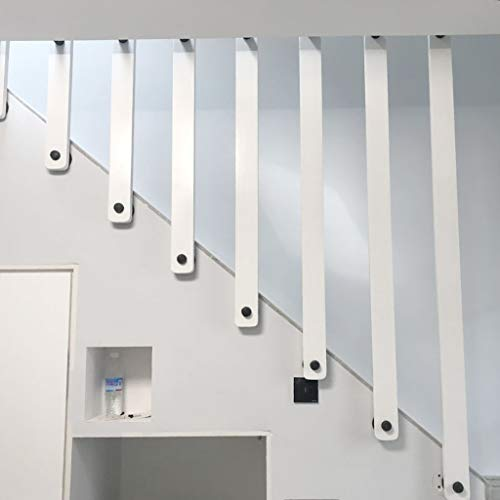 YUDE Barandilla de la escalera de Madera Maciza Antideslizante, barandilla Interior de Pino Blanco (envíenos Datos de tamaño específico después de la Compra)