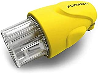 Furrion 30 Amp, 125 Volt Female Plug for RV, Camper or Marine with Marine Grade, Rubbered Grips, Twist Lock & Industrial Quality (Yellow) - F30FMP-SY