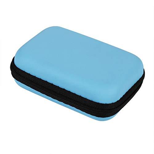 Gmkjh Bolsa de Almacenamiento Digital 5 Colores Mini Bolsa de Almacenamiento Gadgets Organizador Estuche portátil para Auriculares U Disco Cable de Datos Caliente(Azul)