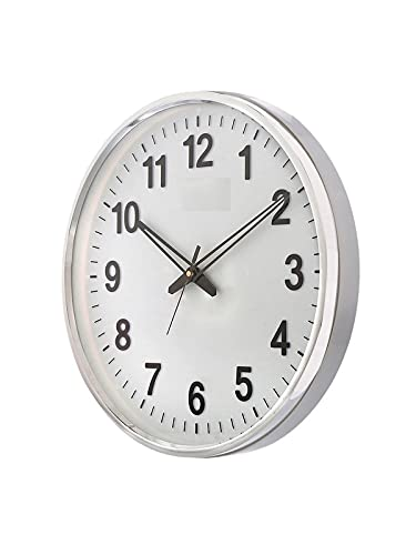 President Analog Quartz Official Designer Big Size Wall Clock for Home, Hall, Office (32 X 32 cms Colour-Wood and White) Made in India WOODF74 E2