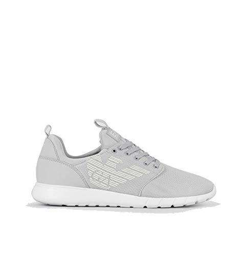 Emporio Armani Sneakers EA7 Herren X8X007 XCC02 Hellgrau, Grau - grau - Größe: 40 EU
