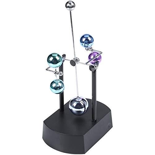 ZLBYB Permanente-Motion Movimento Strumento Fisica decompressione elettromagnetica Pendolo Pianeta Kinetic Mobile Gioco da scrivania Mini Jupiter