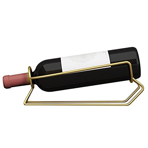 Botellero Vino Estante De Vino, Estante De Almacenamiento De Vino Para Gabinete Puede Contener 1 Botellas, 1 Botellas Encimeras De Acero Inoxidable De Acero Inoxidable. Estantería Vino ( Color : A )