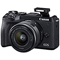 Canon EOS M6 Mark II 32.5MP 4K Ultra HD Wi-Fi Mirrorless Digital Camera with 15-45mm Lens + EVF Kit