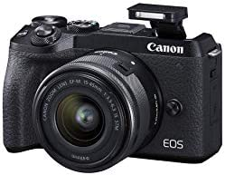 Canon EOS M6 Mark II Mirrorless camera for Vlogging + 15-45mm lens, CMOS, APS-C Sensor, Dual Pixel CMOS Auto Focus,...