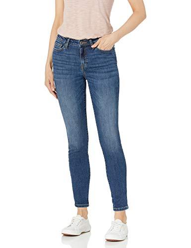 Amazon Essentials Women's Mid-Rise Skinny Jean, Medium Blue, 10 Regular