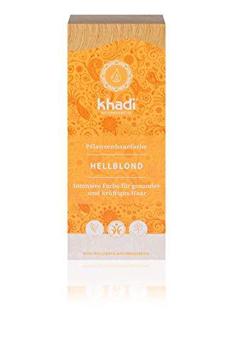 khadi Pflanzenhaarfarbe Hellblond 100g I Haarfarbe für helles und strahlendes Blond I Naturhaarfarbe 100% pflanzlich