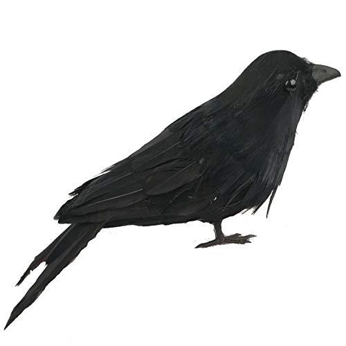 Cuervos artificiales Cuervo hecho a mano Cuervos realistas Cuervos negros de Halloween Ornamento de cuervo pájaro artificial de Halloween Accesorios de fiesta de pájaros artificiales para jardín casa
