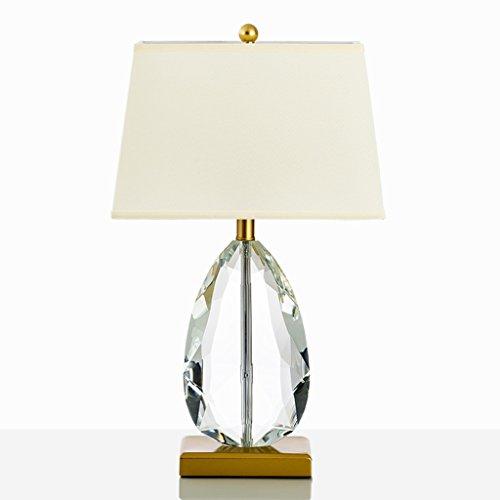 Cristal Clair Lampe de Table Éclairage Conception Simple Américaine avec Drop en forme de Coeur pour Salon Chambre Art Déco