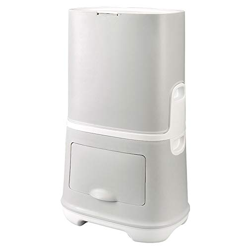 Trash Can Household Kitchen Double-Class, Environmentally-Friendly Push-Type Combination, Closed Classified Design/Environmentally Friendly PP Material, Home use ZDDAB