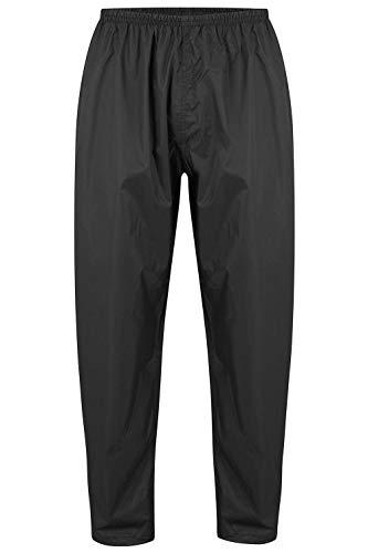 Mac in a Sac Origin II - Packable Waterproof Full Zip Overtrousers, Sobrepantalones Impermeables Hombre, Black, XL