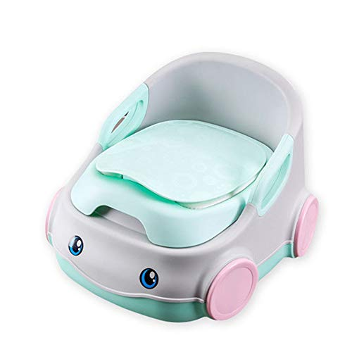 Toilettes pour Enfants Chaise de toilette détachable en forme de voiture pour enfants, siège de formation pour enfants, facile à nettoyer et facile à utiliser Facile à Nettoyer ( Color : Green )
