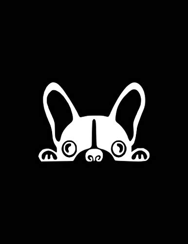 Funny Decals Peeking French Bulldog Qotes Silhouettes Car Decal,Vinyl Window Stickers for Bottle Laptop Cars Wall Art