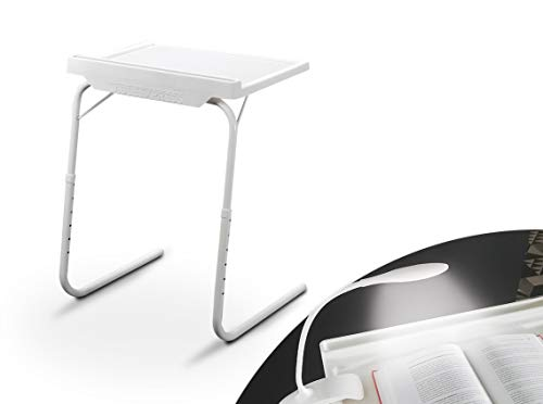 Starlyf Table Express mit Clip LED Lampe | Beistelltisch | Couch-Tisch | Serviertisch | bis zu 25 kg Traglast | 18 Einstellmöglichkeiten | Halterung für Tablet & Smartphone | Das Original aus dem TV