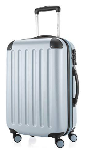 HAUPTSTADTKOFFER - Spree - Handgepäck Hartschalen-Koffer Trolley Rollkoffer Reisekoffer Erweiterbar, TSA, 4 Rollen, 55 cm, 42 Liter, Pool blau
