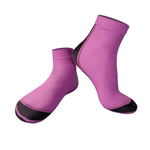 Diving Socks Men and Women 1.5MM Neoprene Diving Socks Non-Slip Anti-Scratch Beach Socks Non-Slip Flexible Diving Socks (Color : Pink, Size : S)