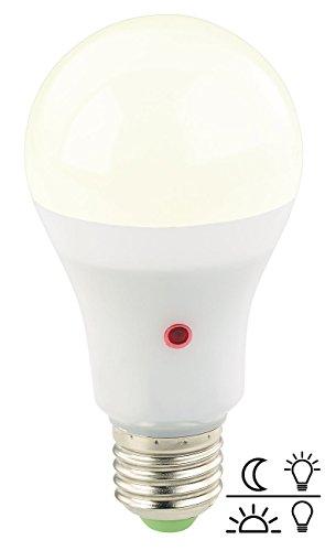 E27 LED-lamp met sensor dag/nacht 12W, Warm licht