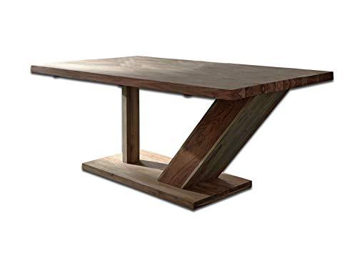 MASSIVMOEBEL24.DE Sheesham Holz massiv Möbel geölt Natur Säulentisch 240x100 Massivmöbel Holz massiv braun Buddha #132