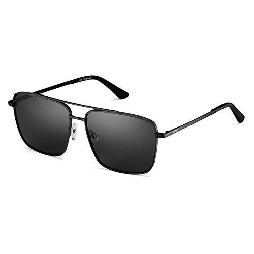 MVMT Navigator   Non-Polarized Women's & Men's Square Sunglasses   Black/Grey