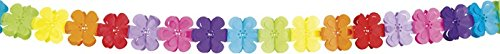 Guirlande multicolore papier fleurs 4 mètres - taille - Taille Unique - 223371