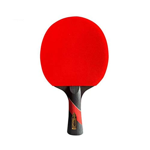 YUYAXQP Draagbare Tafel Tennis Bat Tafel Tennis Set Hout met Hoge Elasticiteit (single Racket + One Bag) Prachtig Verpakt, Rood