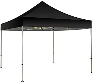 BANNER BUZZ MAKE IT VISIBLE 10'x10' Ez Pop Up Canopy Tent. Instant Shelter Portable Pop-Up Canopy Tent with Wheeled Carry Bag (Black)