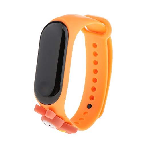 #N/A/a Reloj de Pulsera para niños Pantalla táctil Impermeable Pantalla LED para Deportes al Aire Libre niños y niñas - Naranja
