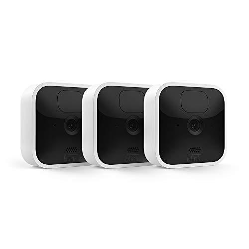 Nueva Blink Indoor | Cámara de seguridad HD inalámbrica con 2 años de autonomía, detección de movimiento, audio bidireccional y prueba gratis del Blink Subscription Plan | 3 cámaras
