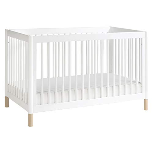 Babyletto Gelato 4-in-1 Convertible Crib with Toddler Bed Conversion Kit in White / Washed Natural, Greenguard Gold Certified