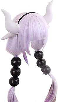 Dragon Maid Kanna Kamui Wig Light Purple High Temperature Silk Long Wig