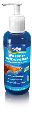 Söll 12635 Wasseraufbereiter Aqua 500 ml für 2.000 Liter Aquariumwasser - Wasserreinigung für Leitungswasser in Süßwasseraquarien durch Schadstoffbindung und Zusatzvitamine